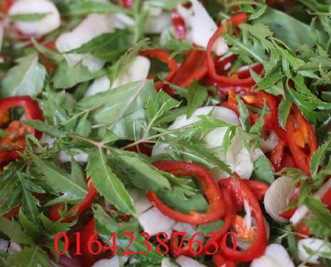 Trộn thịt và bì cùng gói gia vị nem chua đã chuẩn bị sẵn